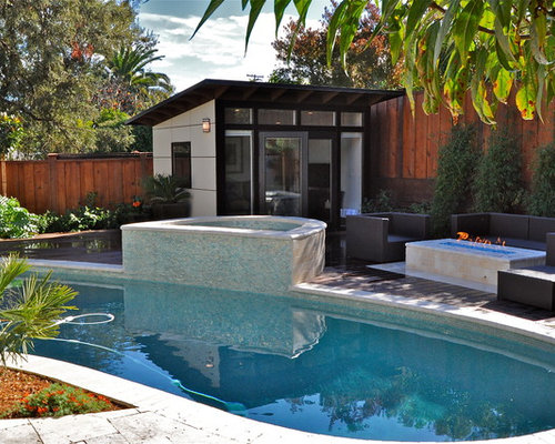 Contemporary Kidney Shaped Pool Design Ideas Renovations