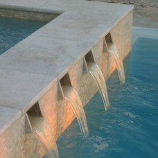 Contemporary Pool by Travertine Mart