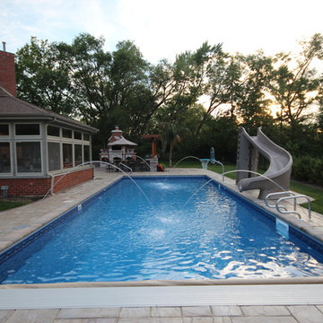 18 x 44 Rectangle with Coverstar Automatic Pool Cover (Orland Park 2011)