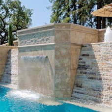 Traditional Pool by christopher Lines & Associates
