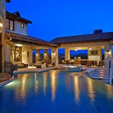 Mediterranean Pool by Bravo Interior Design