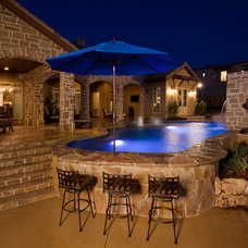 Mediterranean Pool by Dale Sauer Homes