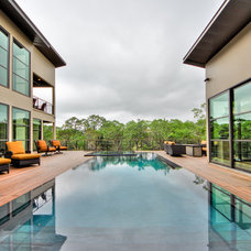 Contemporary Pool by Adam Wilson Custom Homes