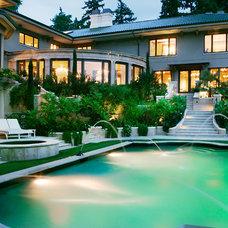Mediterranean Pool by Gelotte Hommas Architecture