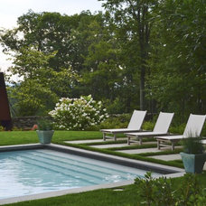 Contemporary Pool by Pennsylvania Landscape & Nursery Association