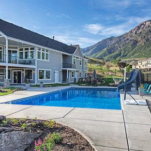 Shabby-Chic-Style Pool in Salt Lake City