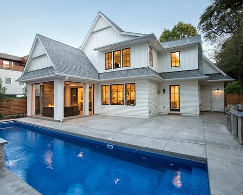 Farmhouse Pool Design Ideas Remodels Amp Photos
