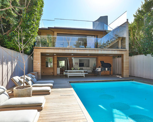 Top 20 Modern Pool with Decking Ideas | Houzz