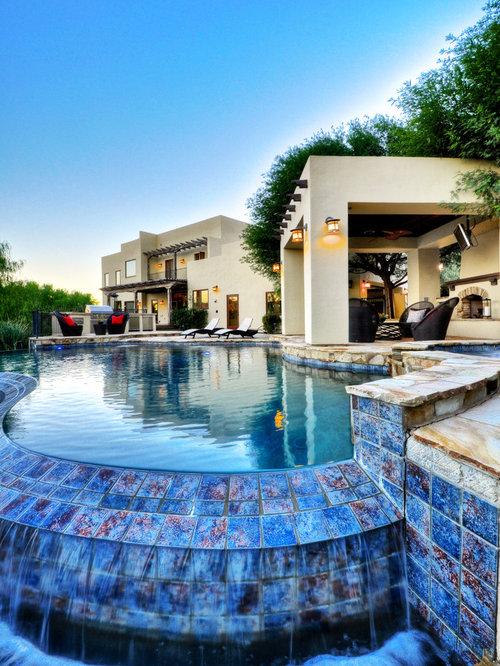 Mediterranean Kidney Shaped Pool Design Ideas Renovations