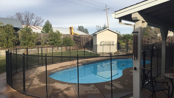4' Black Removable Mesh Pool Fence