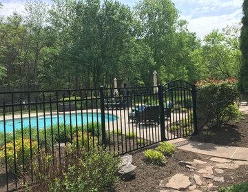 "54"" Tall Aluminum Ornamental Pool Fence"
