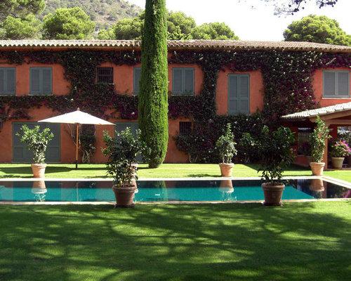 Fotos de exteriores dise os de exteriores de estilo de casa de campo - Jardines de casas de campo ...