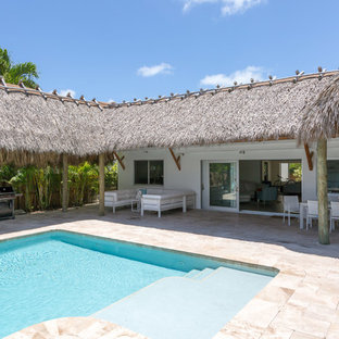 This is an example of a tropical pool in Miami.