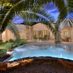 Sophisticated Key West Style Tropical Pool Other