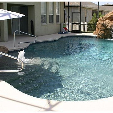 86 - Freeform Pool with Stone Water Slide and Waterfall