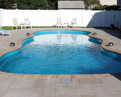 A 40 foot fiberglass pool in a small yard for A rectangular swimming pool is 6 ft deep