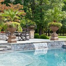 Traditional Pool by Gurley's Azalea Garden