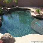 A few Projects - Pool - Phoenix - by Precision Aquascapes