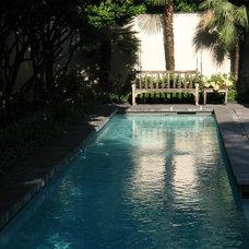 Contemporary Pool by David Morello Garden Enterprises, Inc.