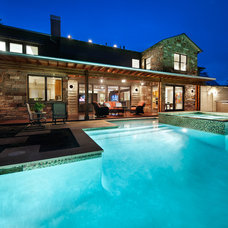 Contemporary Pool by CG&S Design-Build