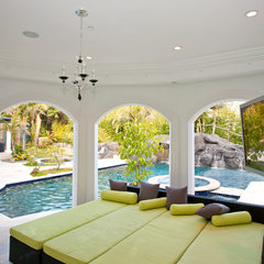 mediterranean patio by Mega Builders