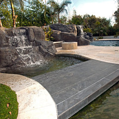 mediterranean pool by Mega Builders
