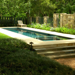 This is an example of a traditional lap pool in Austin.