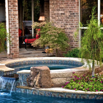 A Small Oklahoma Backyard Receives A Private Pool and Oasis