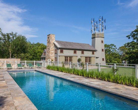 natural stone pool deck | houzz