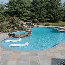 Traditional Pool by Aqua Bello Designs