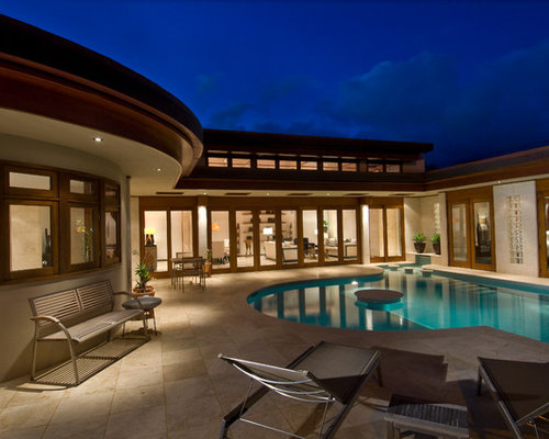 Best u shaped house pool design ideas remodel pictures for U shaped house plans with pool