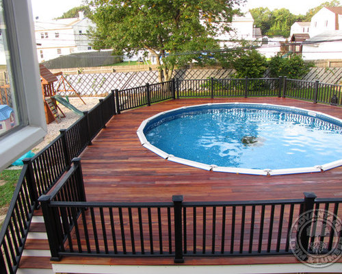 Above ground pool home design ideas renovations photos for Pool design houzz