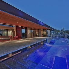 Contemporary Pool by Sever Design Group Architects, Inc