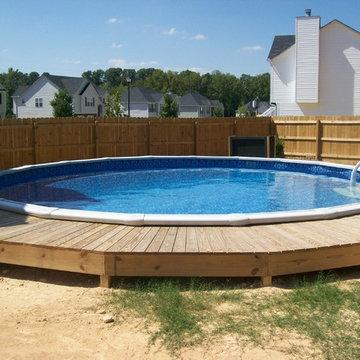 Aboveground Pools Installed by Brown's Pools & Spas