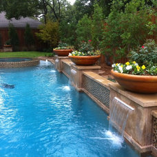Traditional Pool by FineLines Design Studio