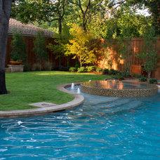 Contemporary Pool by FineLines Design Studio