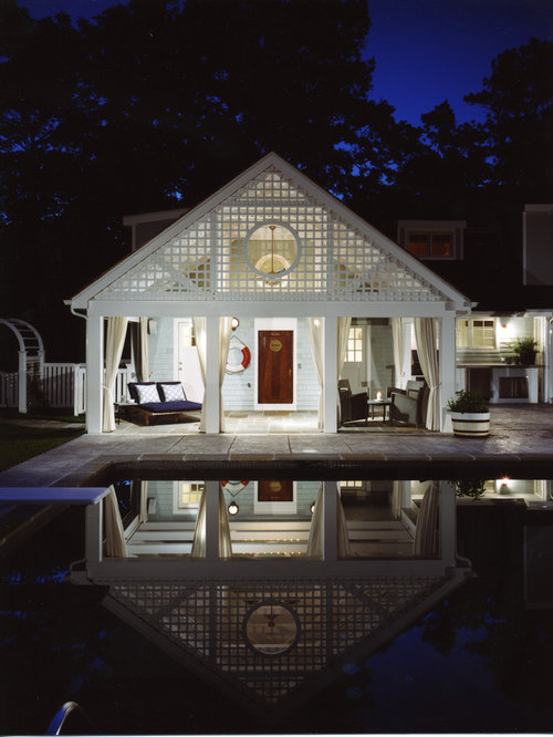 Garage pool house houzz for Garage pool house