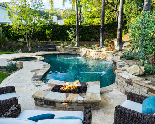 Rustic pool ideas design photos houzz for Rustic pools