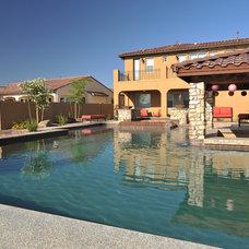 Mediterranean Pool by California Pools & Landscape