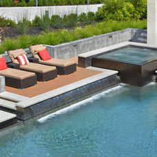 Contemporary Pool by Creative Environments