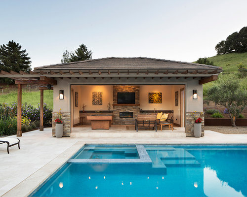 Top 20 Transitional Pool Ideas & Remodeling Photos | Houzz