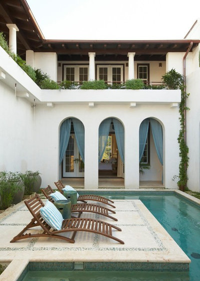Mediterranean Swimming Pool by Artisan of Seagrove