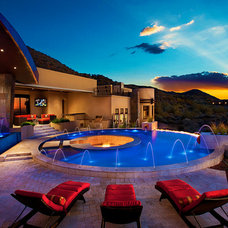 Contemporary Pool by MOSSMAN BROTHERS POOLS