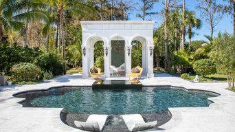 Amazing Roman Geometric Pool & Spa in Parkland