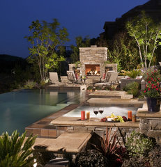 contemporary pool by AMS Landscape Design Studios, Inc.