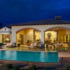 Mediterranean Pool by Pekarek Crandell Architects