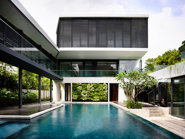 Contemporary Pool by A D Lab