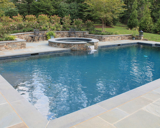 Rectangle Pool With Water Feature rectangle pool | houzz