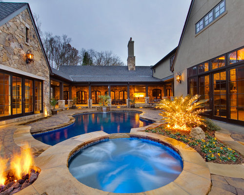 House plans interior courtyards pool design ideas for Courtyard house plans with pool