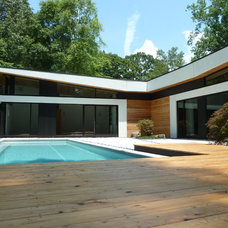 Modern Pool by Cablik Enterprises